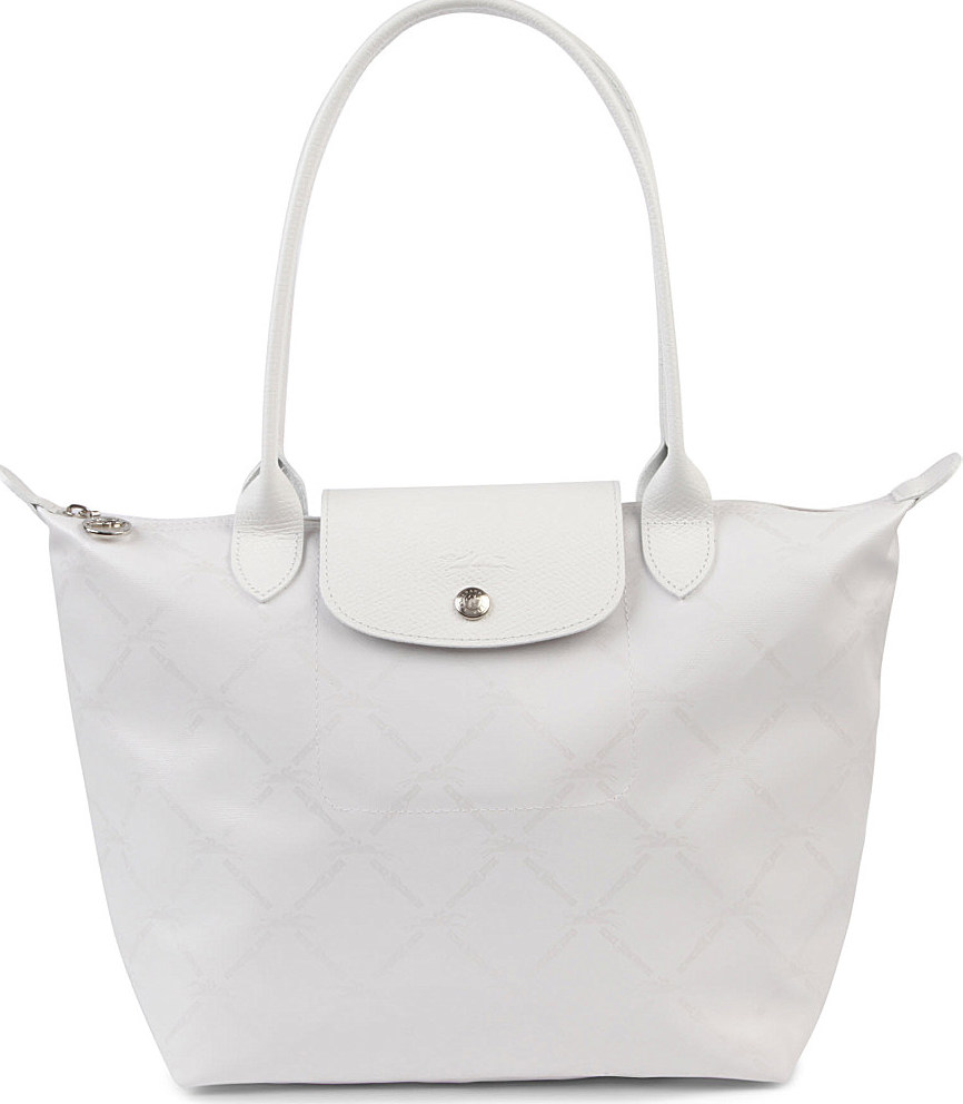 Tote Bag Archives Lc006 Longchamp Le Pliage Large Long Handle Llh Lm Metal Slh White